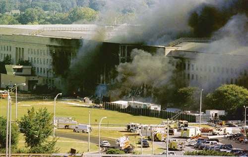 A Boeing 757 Is Alleged To Have Flown Through There Office Furniture And Computer Monitor Which Survived The Fire That Vaporized