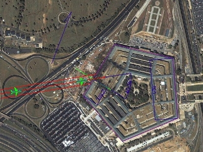 Reported Path Of Flight 77